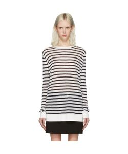 T By Alexander Wang | And Ivory Striped T-Shirt
