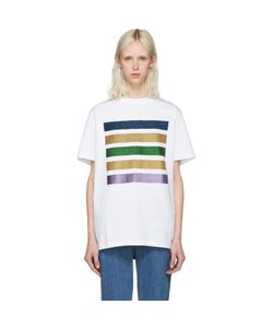 PALM ANGELS | Glitter Five Stripes T-Shirt