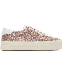 Saint Laurent | Glitter Platform Court Classic Sneakers