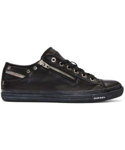 Diesel   Leather Expo-Zip Sneakers