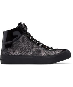 Jimmy Choo | And Lamé Argyle High-Top Sneakers