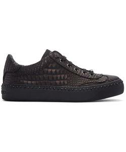 Jimmy Choo   Croc-Embossed Ace Sneakers