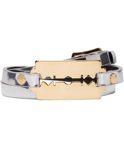 Mcq Alexander Mcqueen   Razor Triple Wrap Bracelet