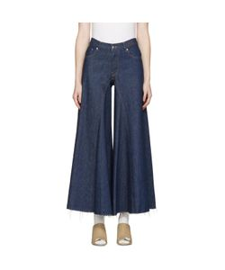 MM6 by Maison Margiela | Mm6 Maison Margiela Raw Denim Wide-Leg Jeans