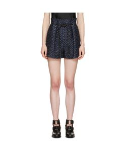 3.1 Phillip Lim | Tailored Pleated Chevron Shorts