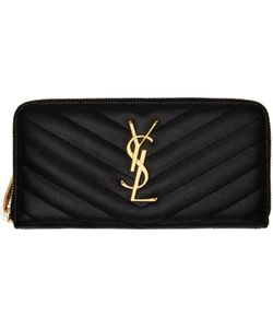 Saint Laurent | Quilted Monogram Wallet