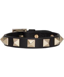 Valentino   Leather Rockstud Bracelet