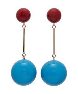 J.W. Anderson | J.W.Anderson And Burgundy Sphere Earrings