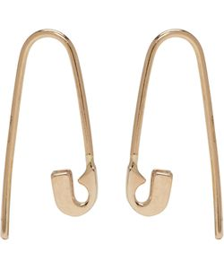 LAUREN KLASSEN | Tiny Safety Pin Hook Earrings