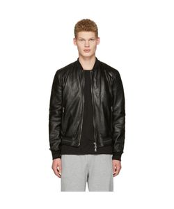 Dolce & Gabbana | Dolce And Gabbana Washed Leather Bomber Jacket