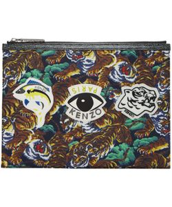 Kenzo | Flying Tiger And Eye Multi Icons Pouch