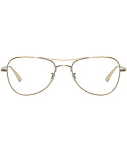 Oliver Peoples The Row   Executive Suite Aviator Glasses