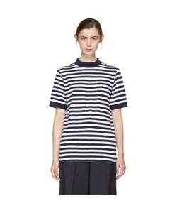 Blue Blue Japan | And Striped Mock Neck T-Shirt
