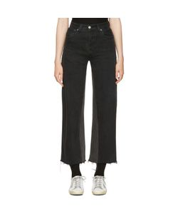 RE-DONE   High-Rise Wide-Leg Crop Jeans
