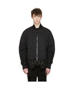 D.Gnak By Kang.D   Shirring Sleeves Bomber Jacket