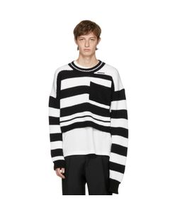 Raf Simons | And Disturbed Striped Sweater