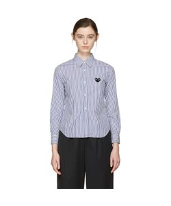 Comme des Gar ons Play | Comme Des Garçons Play And Striped Heart Patch Shirt