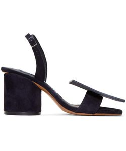 JACQUEMUS | Suede Les Rond Carré Sandals