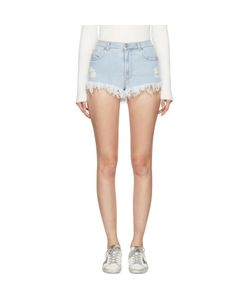 Versus | Denim Fringed Shorts