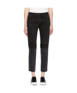 Helmut Lang | Patchwork High-Rise Crop Jeans