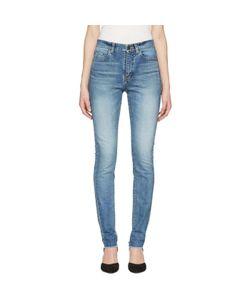 Saint Laurent   Mid Waist Skinny Jeans