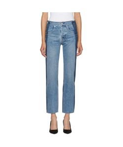 Helmut Lang | Reconstructed Straight Fray Jeans