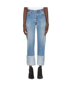 RE-DONE | High-Rise Straight Cuffed Jeans