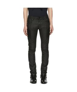 Pierre Balmain | Coated Biker Jeans