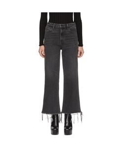 Alexander Wang | Cropped Loose Kick Jeans