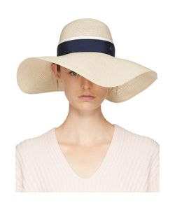 Maison Michel | And Navy Straw Blanche Hat
