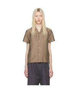 Sasquatchfabrix | Striped Open Collar Shirt