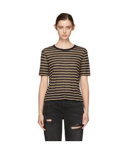 T By Alexander Wang | And Tan Striped T-Shirt