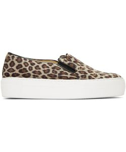 Charlotte Olympia | Leopard Cool Cats Slip-On Sneakers