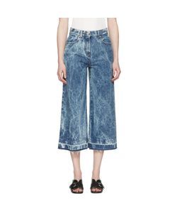 MSGM | Marbled Denim Wide-Leg Jeans