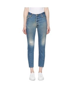RE-DONE | High-Rise Ankle Crop Jeans
