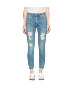 RE-DONE | Originals High-Rise Ankle Crop Rigid Jeans
