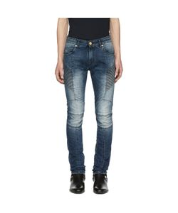 Pierre Balmain | Faded Biker Jeans