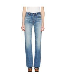 Saint Laurent   Cropped Fla Jeans