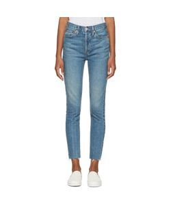 RE-DONE | Originals High-Rise Ankle Crop Stretch Jeans