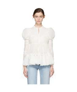 Alexander McQueen | Crepe Rushed Sleeves Blouse