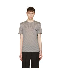 Alexander McQueen | And Off Striped Pocket T-Shirt