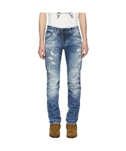 Pierre Balmain | Destroyed Biker Jeans