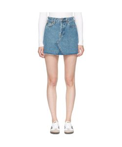 RE-DONE | Originals Denim High-Rise Rigid Miniskirt