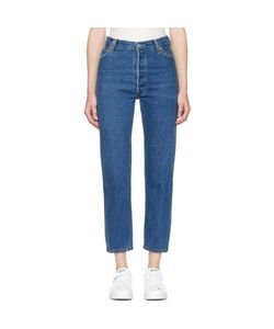 RE-DONE | High-Rise Straight Crop Jeans