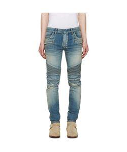 Balmain | Distressed Biker Rib Jeans