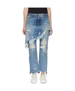 R13 | Double Classic Shredded Hem Jeans