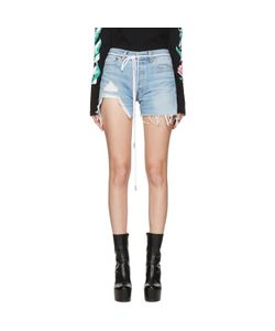 OFF-WHITE   Denim Super Ripped Shorts