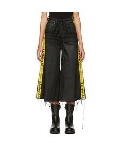 OFF-WHITE | Denim Strap Capri Jeans