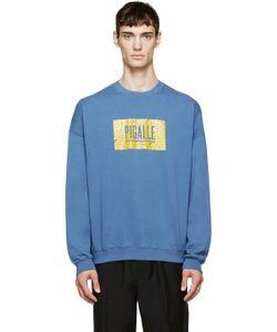 PIGALLE | Blue Wave Logo Sweatshirt