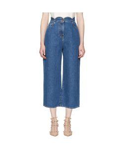 Valentino | Wide-Leg Scallop Waist Jeans